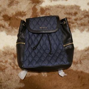 Vera Bradley denim/leather backpack
